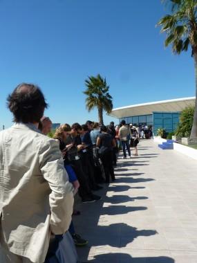 File d'attente projection Mad Max au Festival de Cannes 2015