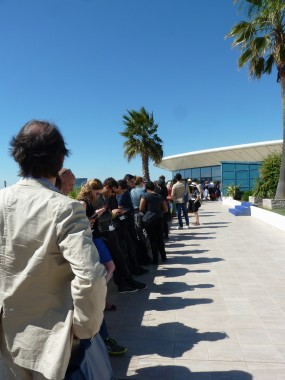 File d'attente projection Mad Max au Festival de Cannes 2015