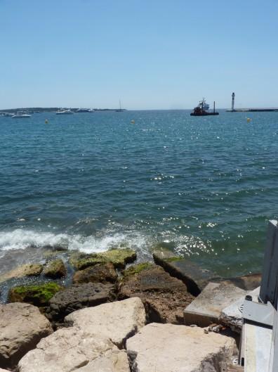 Vu de la mer à Cannes
